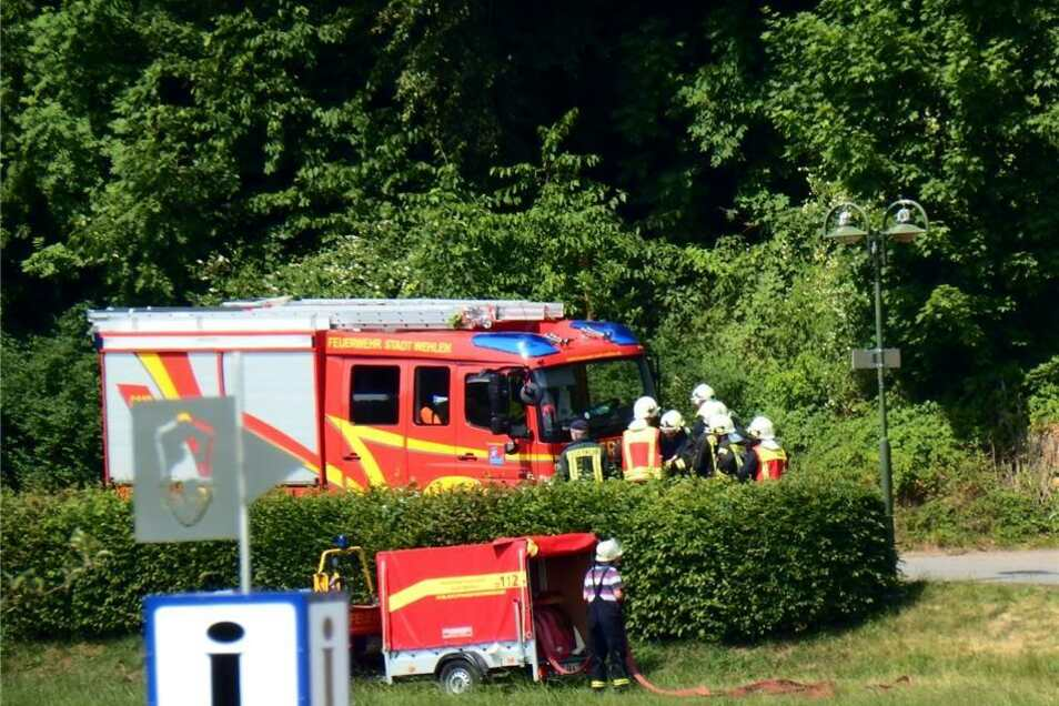 Mehrere Feuerwehren der Region um Rathen/Wehlen und Bad Schandau asind im Einsatz.