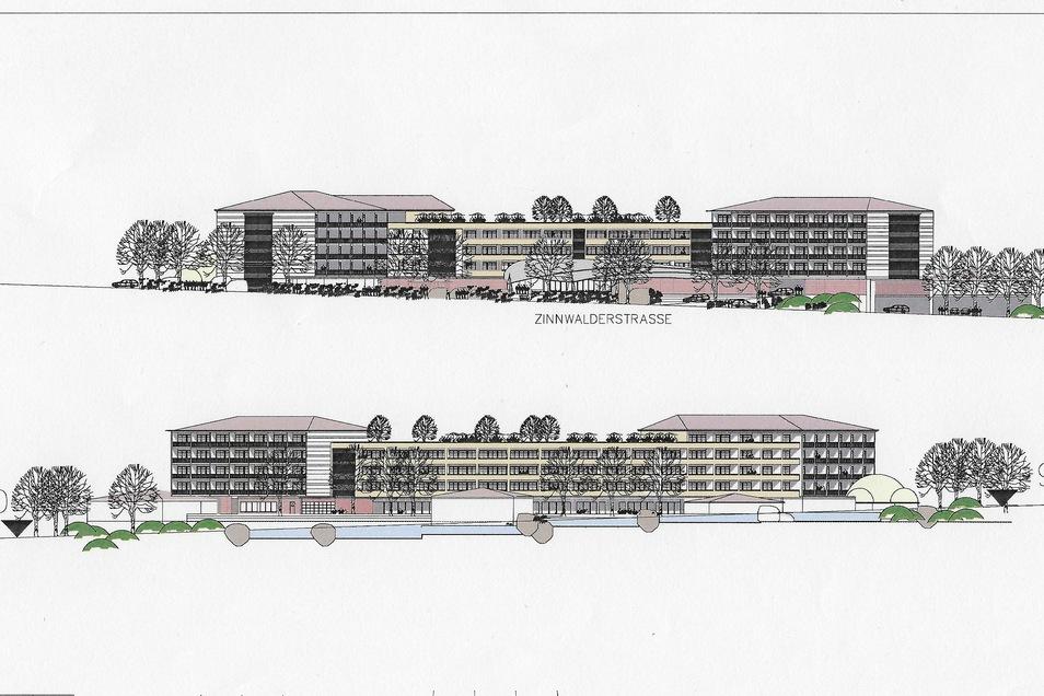 So könnte das neue Vier-Sterne-Hotel an der Zinnwalder Straße aussehen.