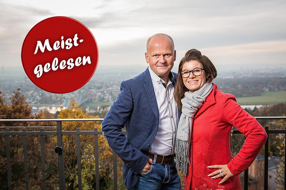 Carsten Rühle und seine Frau Carolin Rühle-Marten, die Restaurantbetreiber im Luisenhof, standen nach einem Feuer Ende Juli vor dem Nichts