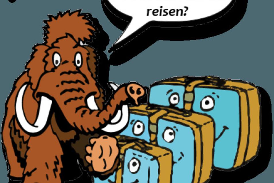 Mammut Susi lädt die konder zu einer Reise ein.
