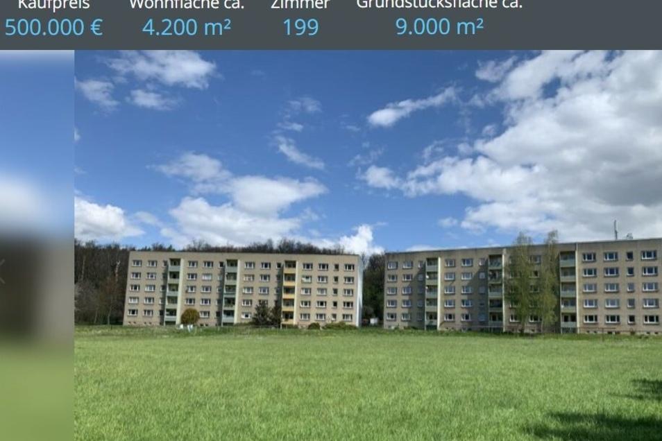 Die Wohnblöcke Am Waldrand in Westewitz sollen verkauft werden, Mittlerweile werden die beiden Objekte im Internet für einen Preis von 500.000 Euro angeboten.