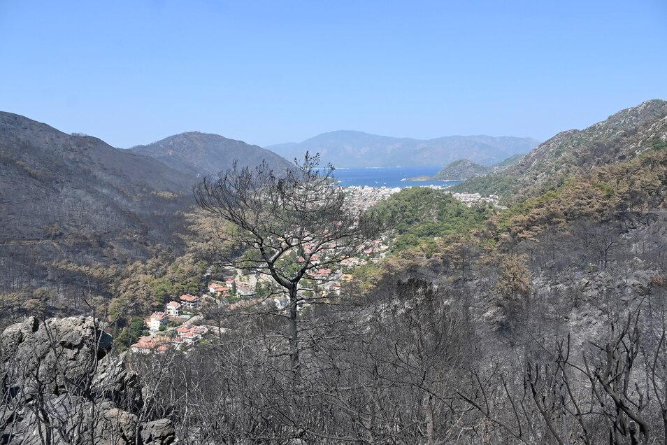 Das Feuer in der Türkei hat ganze Landstriche verbrannt zurückgelassen - wie hier in der bei Touristen beliebten Region Marmaris.