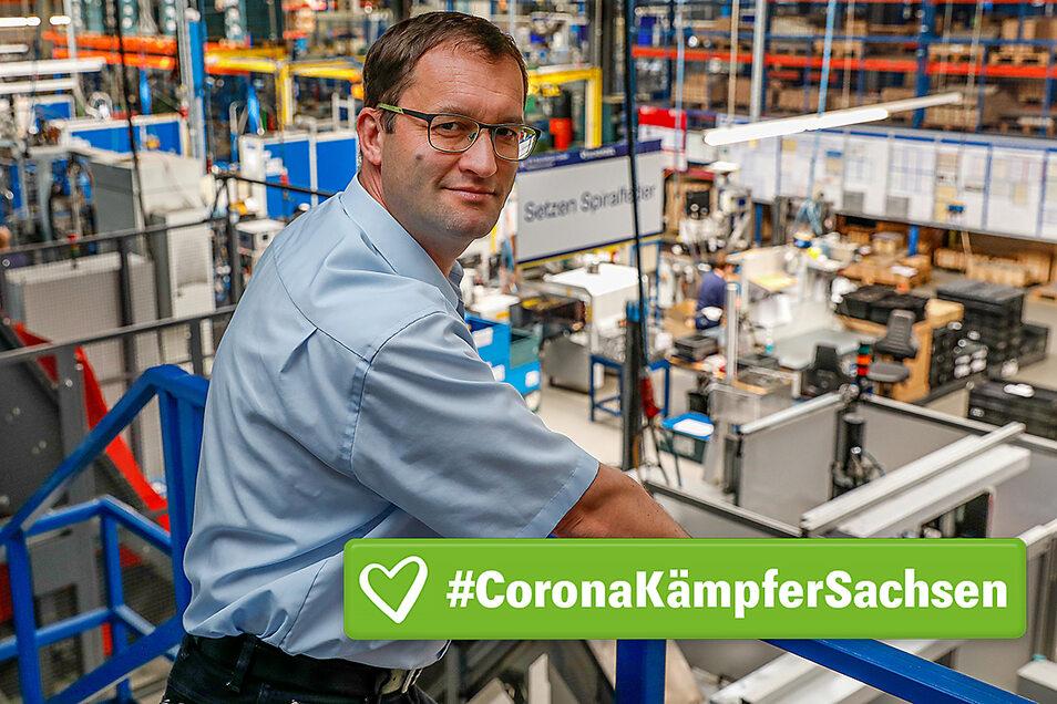 Michael Stolle ist Geschäftsführer der SFP Spezialfedern, einem 100-Mitarbeiter-Unternehmen in Seifhennersdorf. Er kämpft um Aufträge.