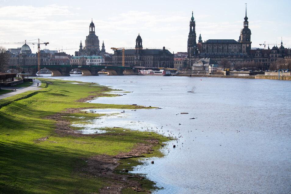 Der Pegel der Elbe ist in den vergangenen Tagen stark angestiegen.