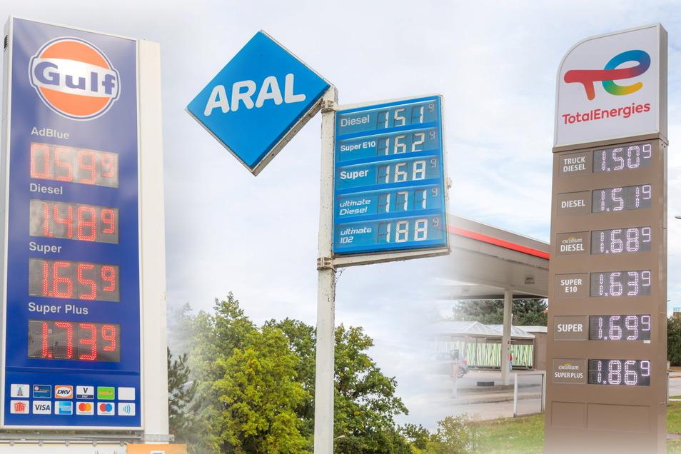 Die Preise für Benzin und Diesel sind zwischen Niesky und Görlitz besonders hoch. Landeinwärts Richtung Bautzen wird deutlich weniger verlangt.