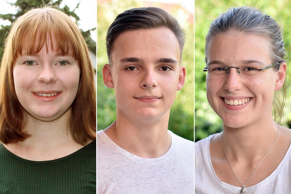 Marika Theurich, Christoph Baitis und Johanna Geisler (v.l.) haben das Abitur bestanden und freuen sich auf ihren neuen Lebensabschnitt.