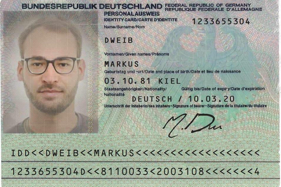 Mit dieser gefälschten Personalausweis-Kopie wies sich der vorgebliche Verkäufer aus.