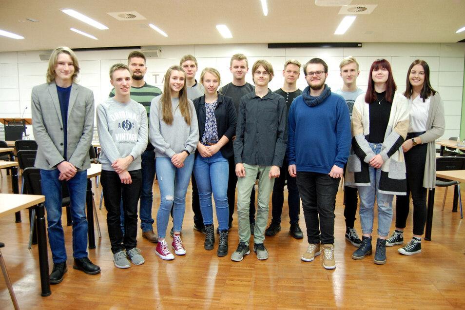 Der Ende 2019 gewählte Jugendstadtrat von Hoyerswerda.