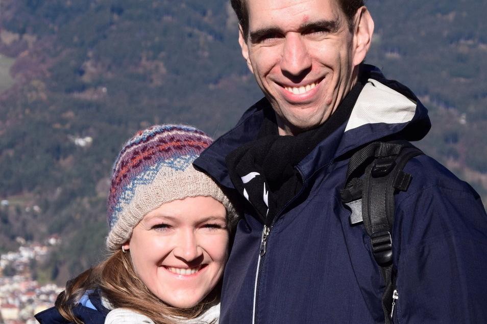 Lukas Steinegger aus Österreich und seine deutsche Partnerin Constanze Gabriel.