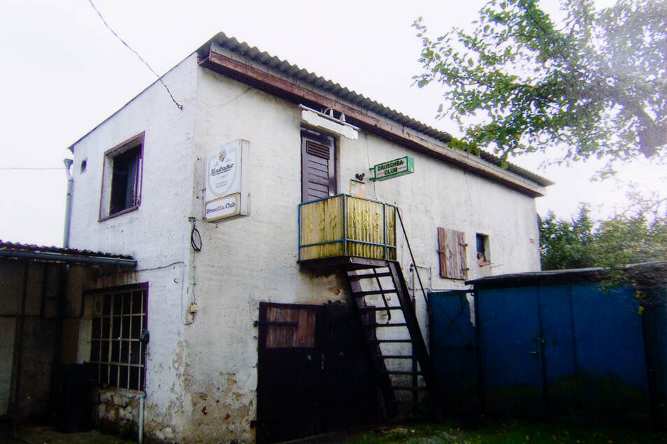 """Der """"Drushba Club"""" nach der Wende. Bis Mitte der 90er Jahre wurde er noch betrieben."""
