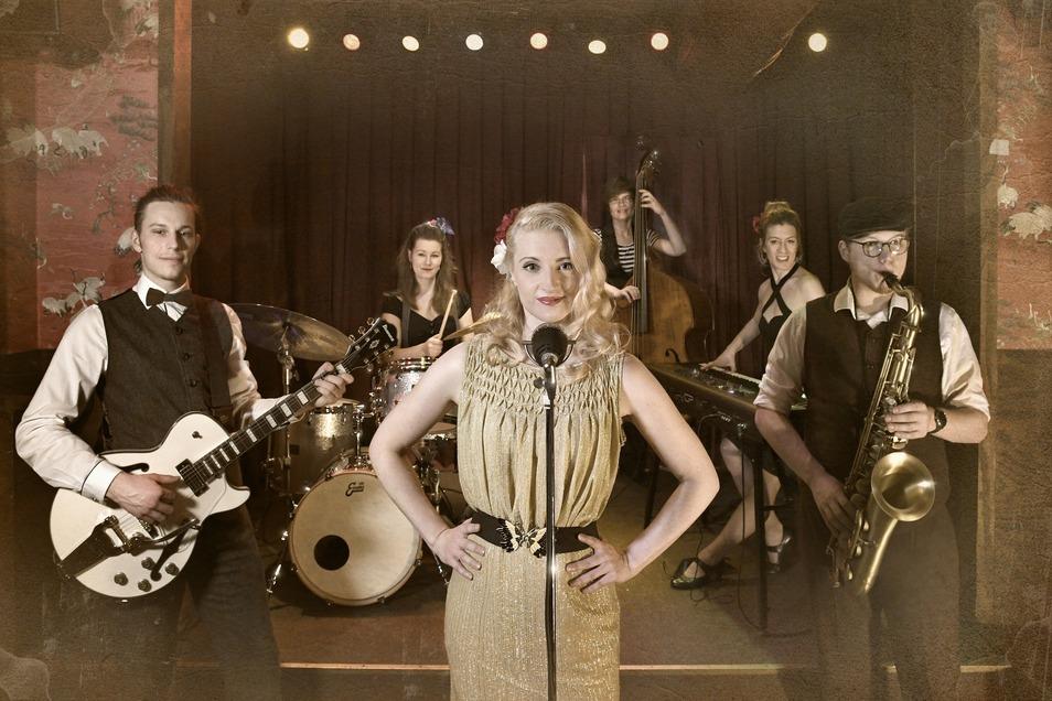 Die Rock'n'Roll Band Lesly's Dynamite wird auf dem Schloßplatz zum Tanzen animieren.