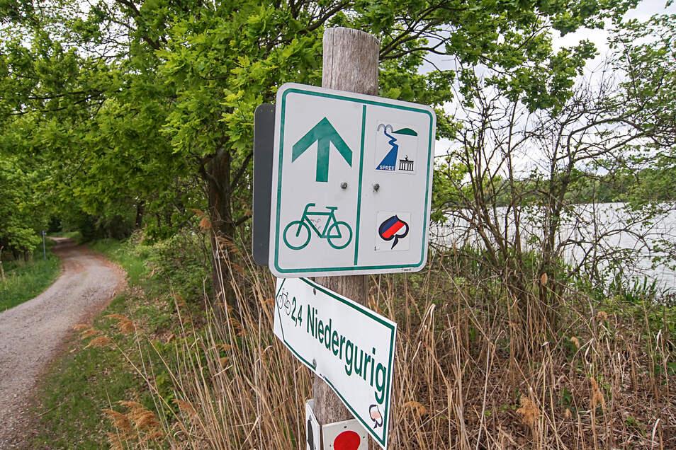 An dieser Stelle führen gleich zwei überregionale Rad- und Wanderwege durch die Teiche bei Niedergurig: Der Spreeradweg und der Weg Sorbische Impressionen. Die Gemeinde hat jetzt ein Wegekonzept beschlossen.