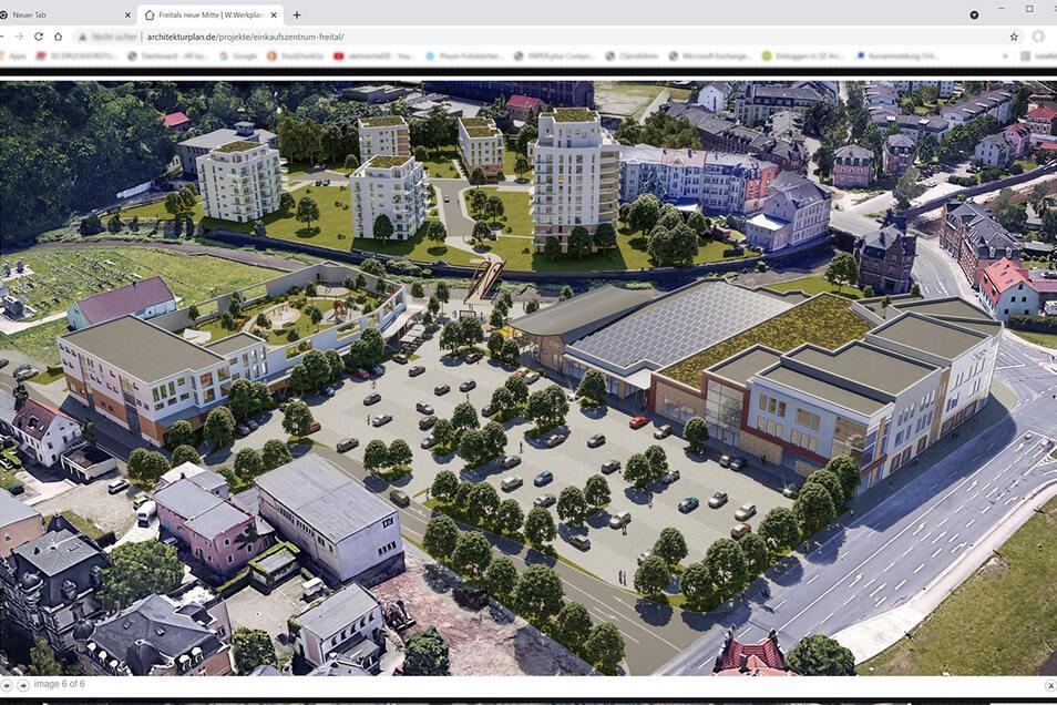 So sieht der Entwurf auf der Homepage des Freitaler Architekturbüros W.Werkplan aus.