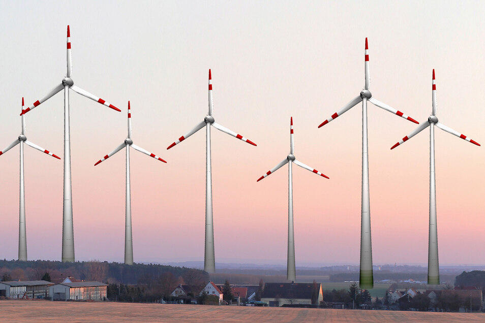 Mit dieser Simulation warnten schon 2012 die Straucher vor einem Windkraftwahn. Die Teut Windprojekte GmbH klagte vor dem Bautzner Gericht nun erfolgreich.