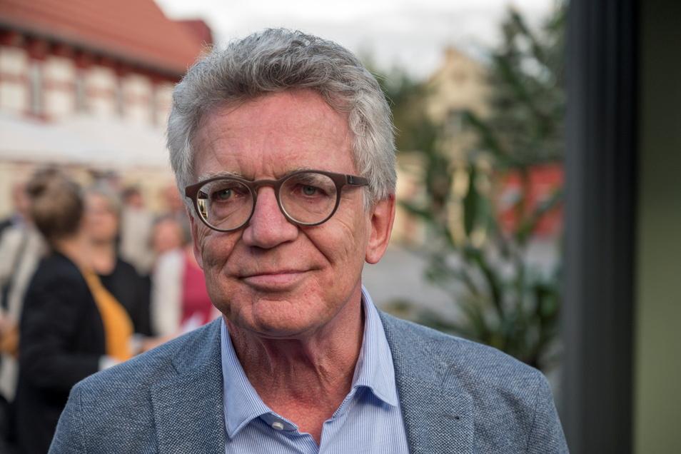 Bei seiner Verabschiedung vor einigen Tagen in Gröditz: Thomas de Maizière (CDU). Seinen ehemaligen Meißner Bundestagswahlkreis 155 gewann die AfD-Frau Barbara Lenk aus Klipphausen. 2017 konnte de Maiziere die AfD noch auf Distanz halten.