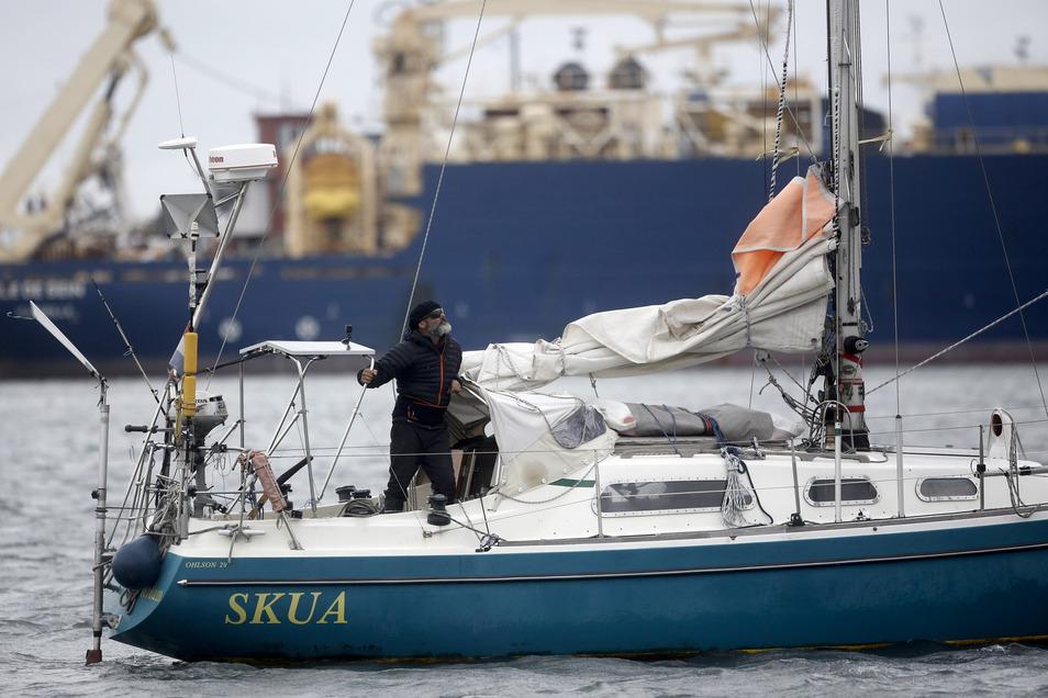 Juan Manuel Ballestero überquerte den Atlantik auf dem kleinen Segelboot.