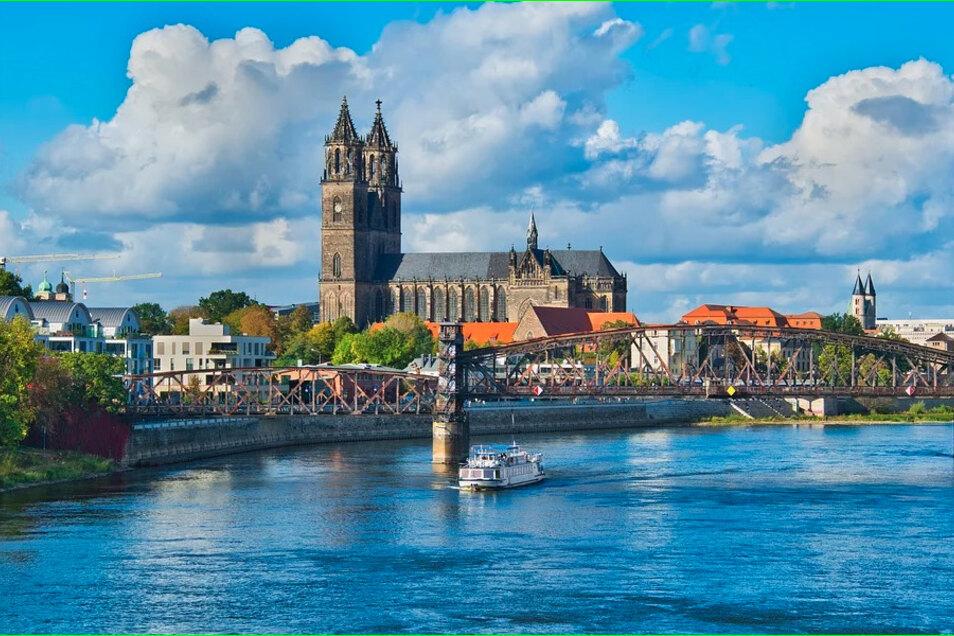 Die Elbe als Band zwischen beiden Partnerstädten