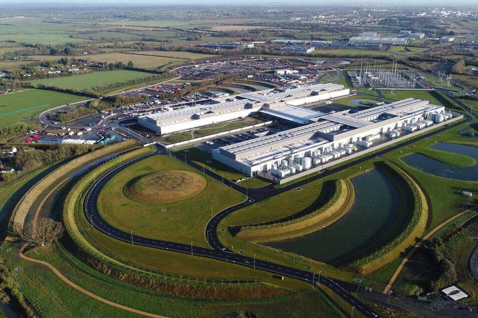 Blick auf ein Facebook-Datenzentrum in Clonee. Viele der großen Tech-Konzerne haben ihren Europa-Sitz in Irland.