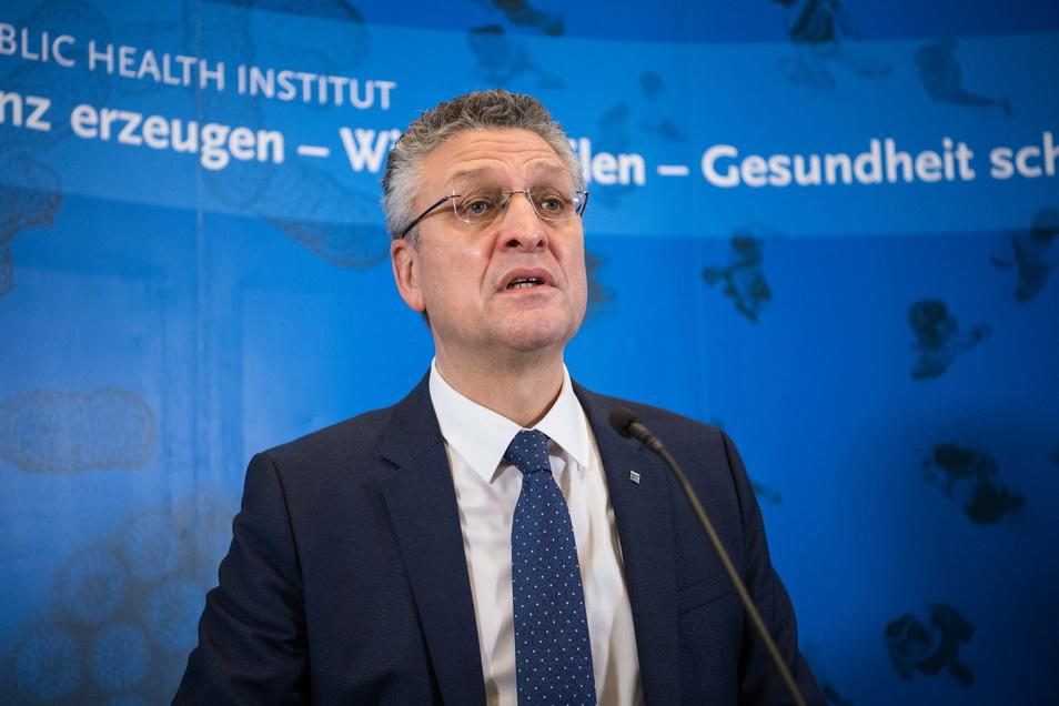 Lothar Wieler, Präsident Robert Koch-Institut (RKI), äußerte sich am Dienstag zur Corona-Lage in Deutschland.