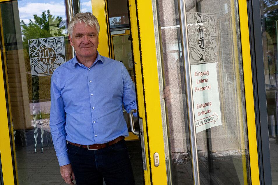Volker Hegewald ist der Schulleiter des Glückauf-Gymnasiums Dippoldiswalde und der Außenstelle Altenberg.