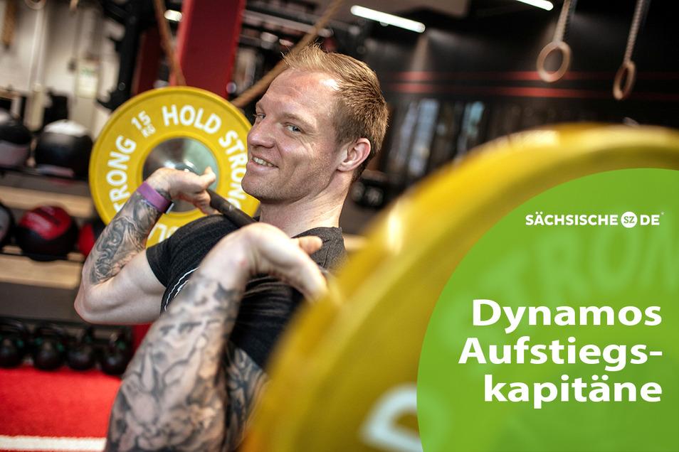 In Langenfeld im Rheinland betreibt der einstige Dynamo-Kapitän Thomas Hübener eine Crossfit-Anlage – und hat selbst an Muskelmasse zugelegt.