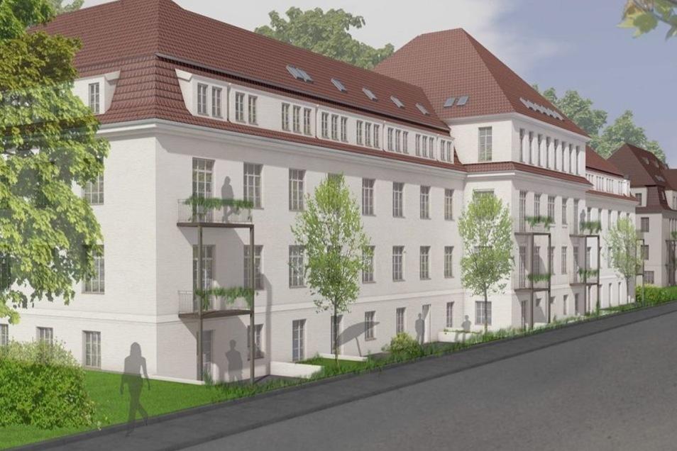 So soll die alte Kaserne in einem Dresdner Stadtteil künftig aussehen. Auch hier ist Hagen Grothe engagiert, die Ansicht und Planung stammt vom Görlitzer Architekten Christian Weise.