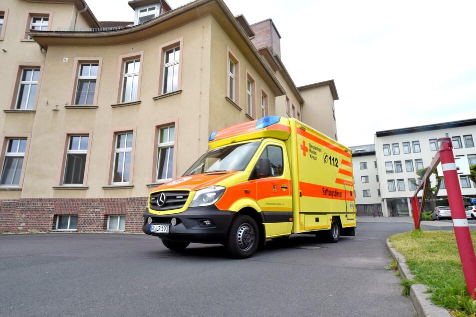 Das Krankenhaus in Zittau.