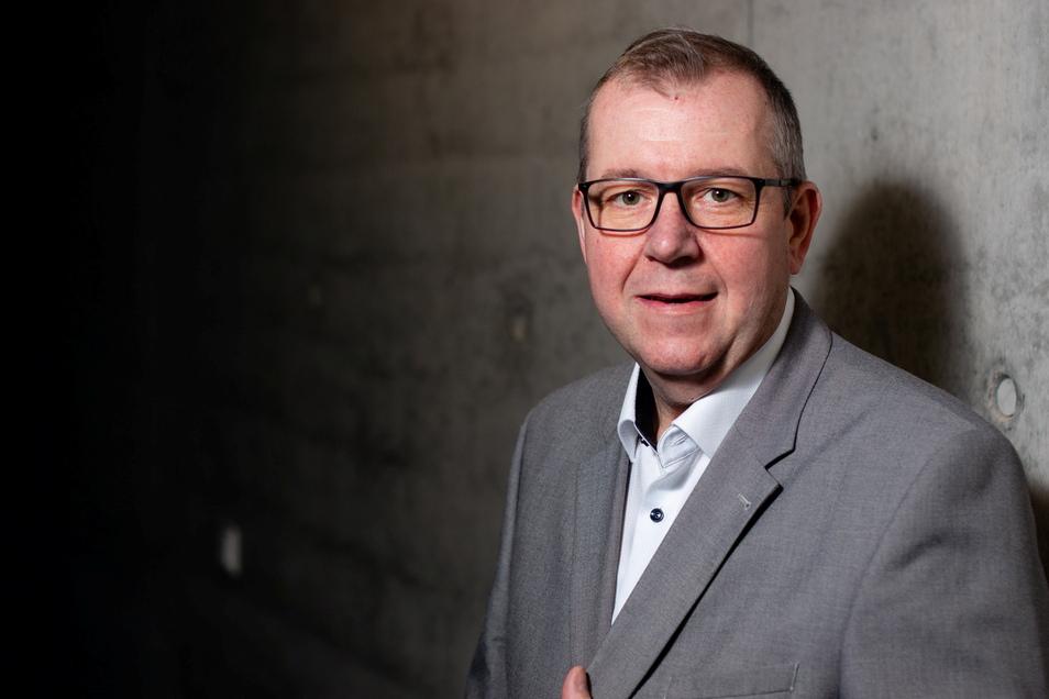 Ilko Kessler ist Fraktionsvorsitzender der SPD im Gemeinderat Großharthau.