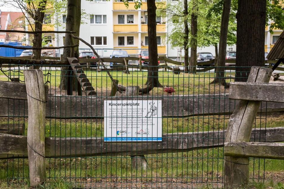 Der gemeinsame Spielplatz der GWG und der Wobag in der Niesyker Ringstraße ist noch gesperrt.