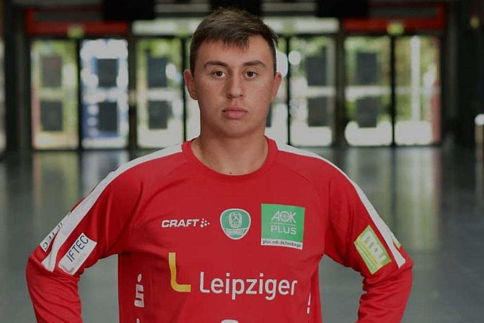 Seit drei Jahren steht der 16-Jährige für die DHfK Leipzig im Tor.