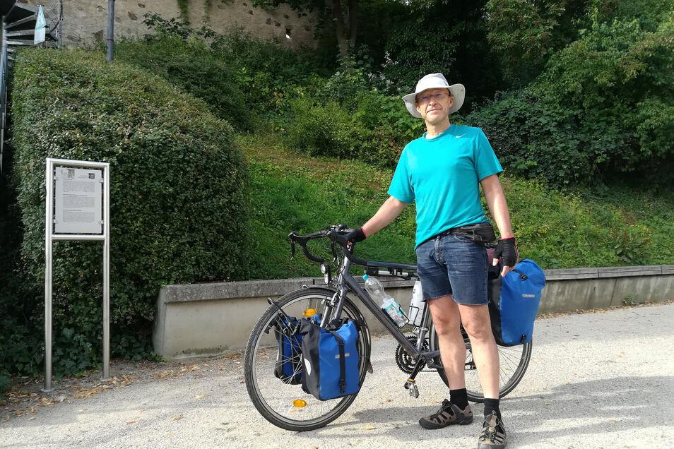 Ingo Fischer will bis nach Frankfurt am Main. Fotos: SZ/sdn
