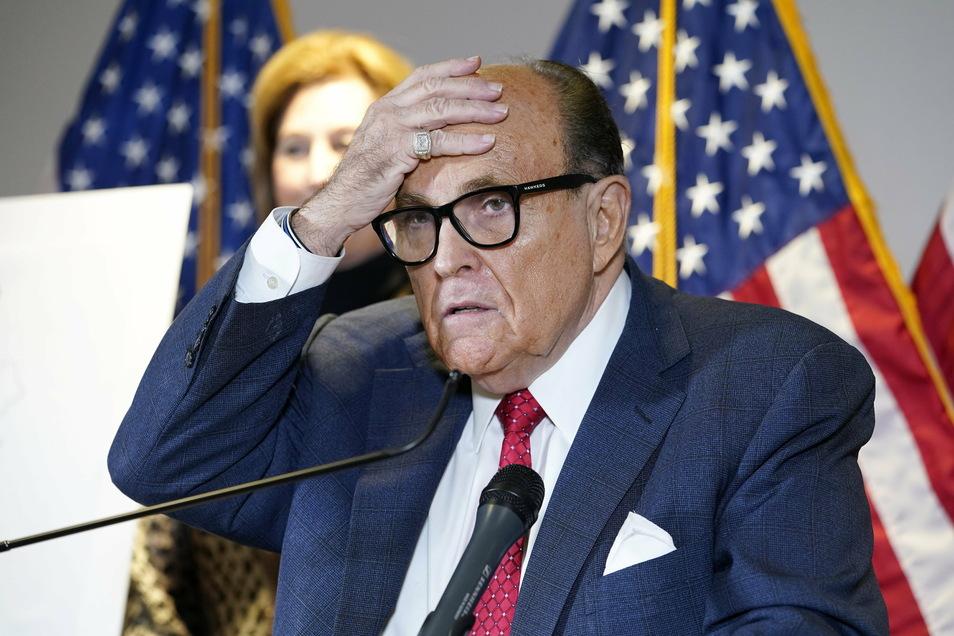 Bekannt durch teils skurrile Auftritte: Rudy Giuliani