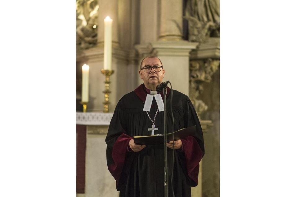 Bischof Waldemar Pytel, hier während eines Gottesdienstes, freut sich über die deutsch-polnische Kooperation.