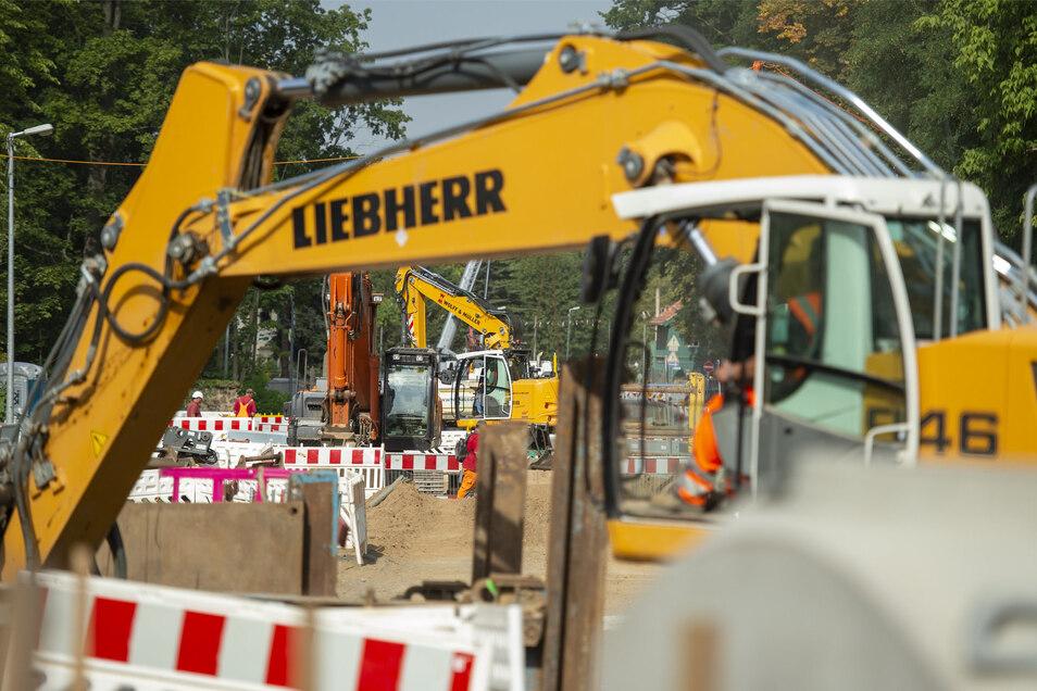 Auf der Baustelle Meißner Straße beginnen am Montag die Gleisbauarbeiten. Fußgänger müssen mit Behinderungen rechnen.