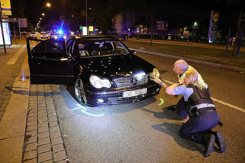 Dieser Mercedes erfasste am 22. August den sechsjährigen Ali. Der Junge starb bei den Unfall.
