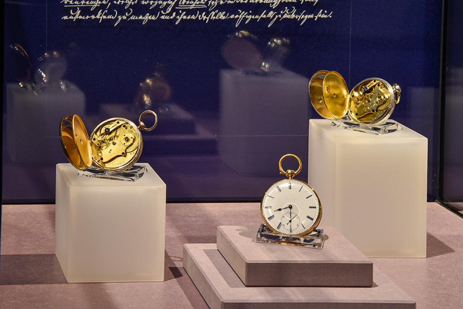 Noch bis zum Sonntag ist die aktuelle Sonderausstellung zu frühen Glashütter Taschenuhren zu sehen.