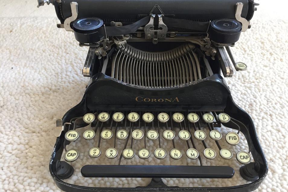 Eine Corona 3 Schreibmaschine (1912)