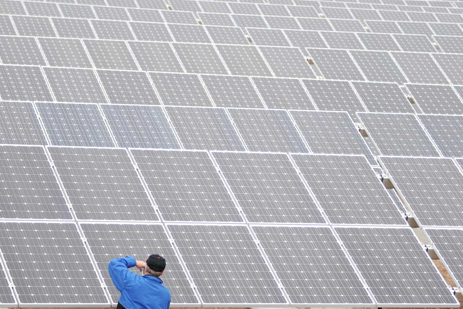 Eine Firma aus Neuhardenberg plant entlang der Autobahn einen acht Kilometer langen Solarpark. Der Stromertrag soll bis zu 180 Megawatt betragen.