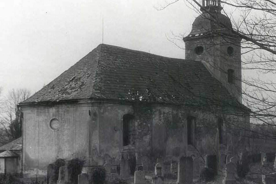 So sah die Kirche in Václavice aus, deren Abriss 1976 erfolgte.