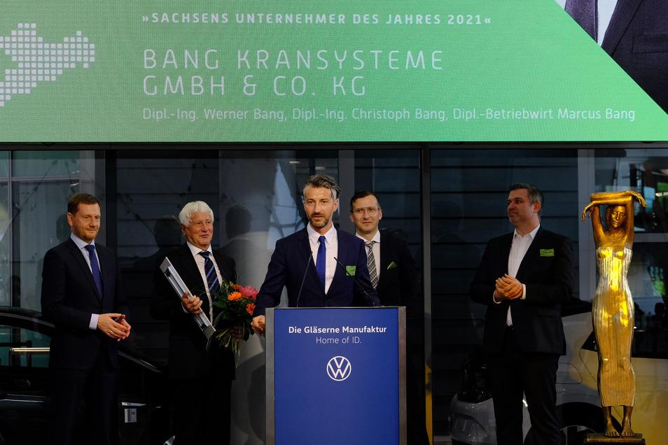 Unternehmer des Jahres 2021 werden Werner Bang und seine Söhne Christoph und Markus Bang.