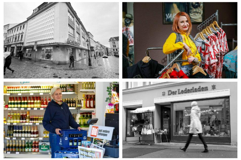 Vier Beispiele aus Zittau: Der Schuhhof und die Modeboutique haben geschlossen, ein Getränkemarkt und Yakuza-Laden eröffnet.