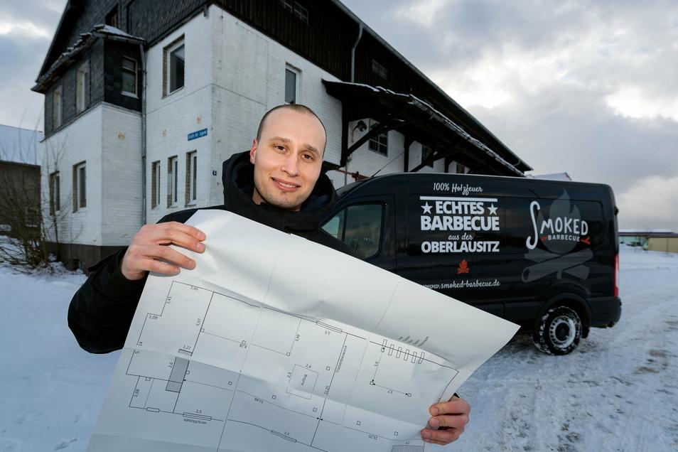 Catering-Unternehmer Robert Grützner hat in Burkau das Objekt gefunden, das zu seinen Plänen passt.