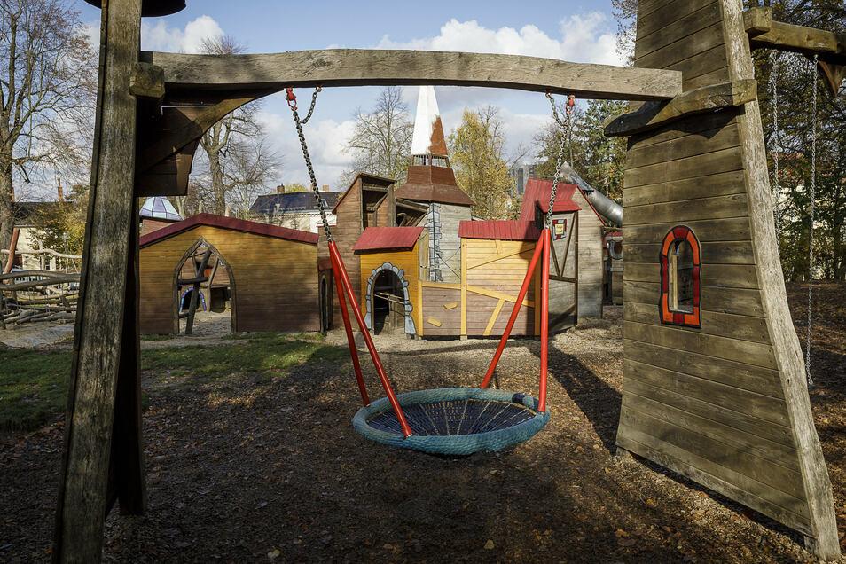 Spielplatz im Stadtpark Görlitz.