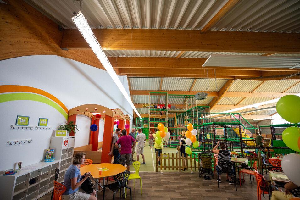 Das Kindertobeland im Sport- und Freizeitzentrum in  Sebnitz wurde Ende August  nach Umbauarbeiten wieder eröffnet.