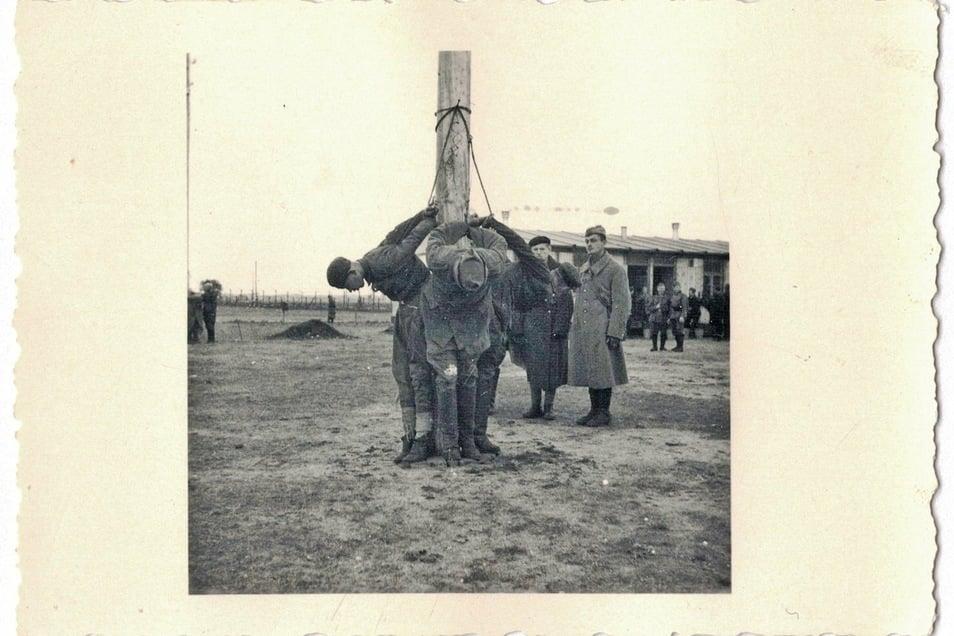 Das Pfahlhängen als Bestrafungsmethode war in Deutschland eigentlich verboten - wurde aber zumindest zeitweise in Zeithain geduldet.