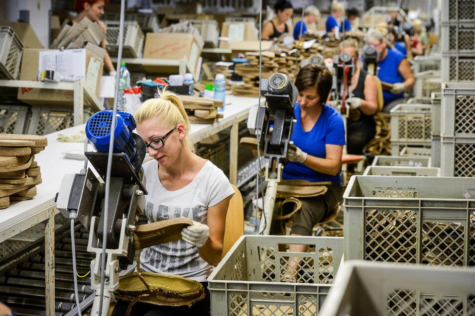Das Herz der Birkenstock-Produktion liegt in der Oberlausitz mit den Werken in Bernstadt und Görlitz.