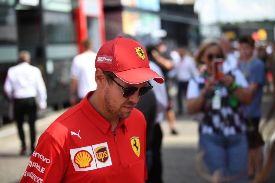 Kaum noch Chancen auf den WM-Titel: Sebastian Vettel beim Großen Preis von Deutschland.