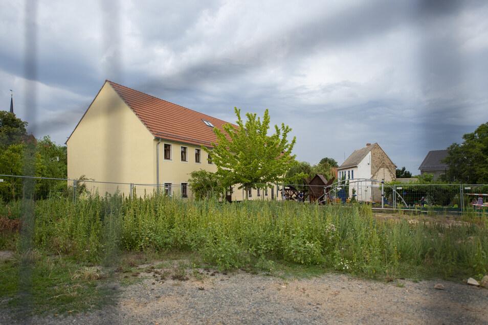 Das blaue Haus – das kleine Gebäude – soll eigentlich auch verschwinden.