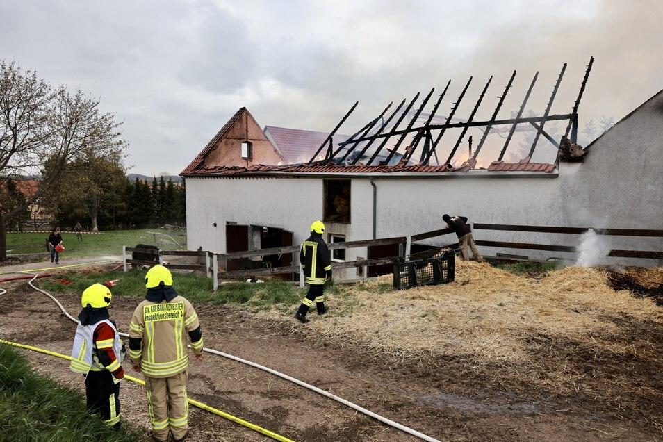 Zwei Gebäude waren von dem Brand betroffen.