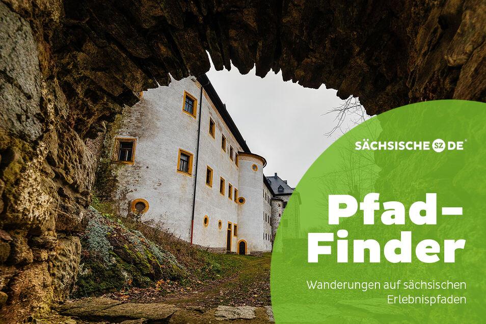 Durch diesen Bogen führt der Silbermann-Pfad am Schloss Frauenstein oberhalb von Gottfrieds Heimatstadt. Dort erinnert seit 1983 ein Museum an den berühmten Orgelbaumeister.